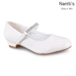 LD-j1403 White Zapatos por Mayoreo Wholesale girls shoes Nantlis Little Dominiques Kids Shoes