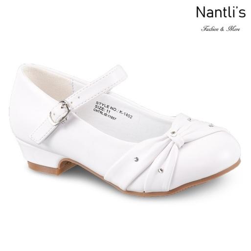 LD-k1402 White Zapatos por Mayoreo Wholesale girls shoes Nantlis Little Dominiques Kids Shoes