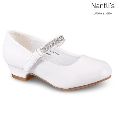 LD-k1403 White Zapatos por Mayoreo Wholesale girls shoes Nantlis Little Dominiques Kids Shoes
