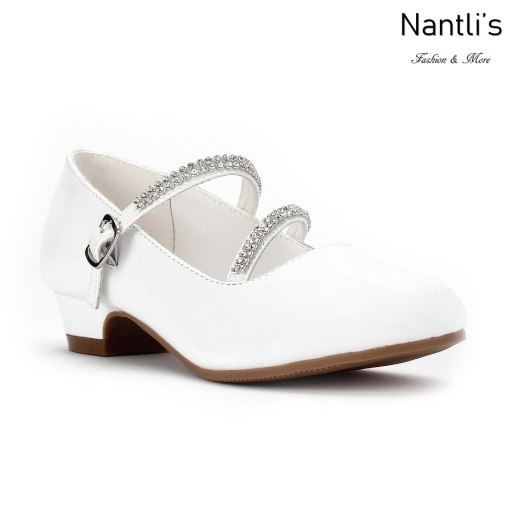 LD-K1405 white Zapatos por Mayoreo Wholesale kids shoes Nantlis Little Dominiques