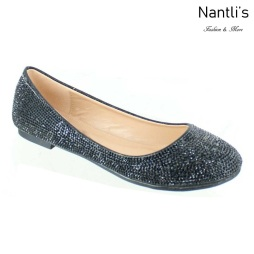 MC-Merina-21 Black Zapatos de Mujer Mayoreo Wholesale Women flats Shoes Nantlis