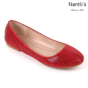 MC-Merina-21 Red Zapatos de Mujer Mayoreo Wholesale Women flats Shoes Nantlis