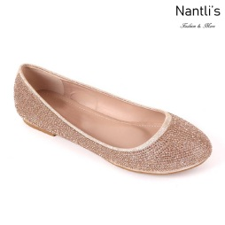 MC-Merina-21 Rose Gold Zapatos de Mujer Mayoreo Wholesale Women flats Shoes Nantlis