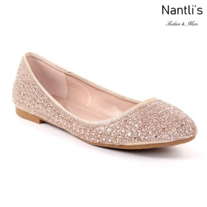 MC-Merina-22 Rose Gold Zapatos de Mujer Mayoreo Wholesale Women flats Shoes Nantlis