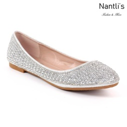 MC-Merina-22 Silver Zapatos de Mujer Mayoreo Wholesale Women flats Shoes Nantlis