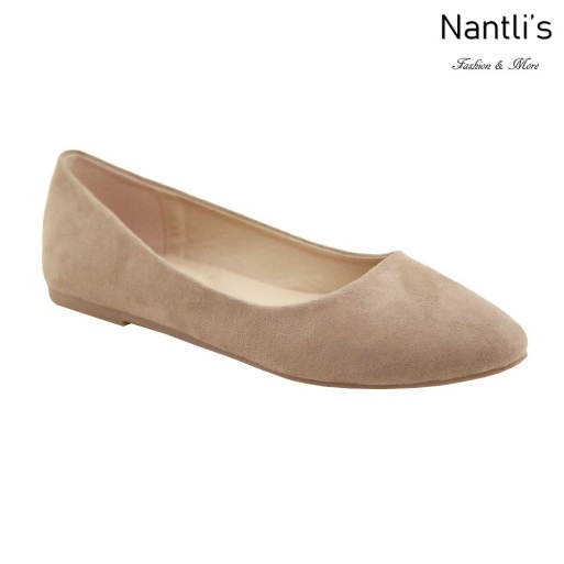 MC-Tracy-7 Taupe Nubuck Zapatos de Mujer Mayoreo Wholesale Women flats Shoes Nantlis