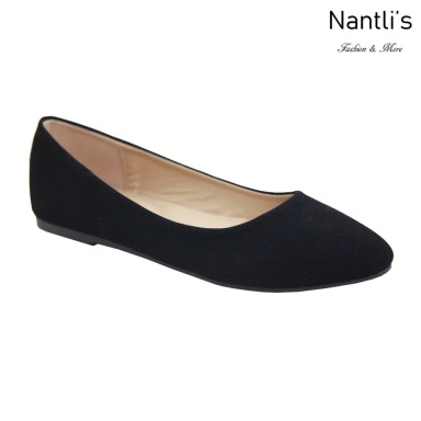 MC-Tracy-8 Black Nubuck Zapatos de Mujer Mayoreo Wholesale Women flats Shoes Nantlis