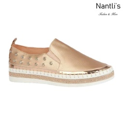 BL-Alexis-3 Rose Gold Zapatos tennis de Mujer Mayoreo Wholesale Women sneakers Shoes Nantlis
