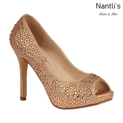 BL-Barbara-100 Rose Gold Zapatos de Mujer elegantes Tacon Alto Mayoreo Wholesale Womens Hi-Heels Fancy Shoes Nantlis