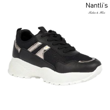 BL-Bella-20 Black Zapatos tennis de Mujer Mayoreo Wholesale Women sneakers Shoes Nantlis
