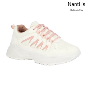 BL-Bella-21 White-pink Zapatos tennis de Mujer Mayoreo Wholesale Women sneakers Shoes Nantlis