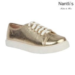 BL-Cherry-38 Gold Zapatos tennis de Mujer Mayoreo Wholesale Women sneakers Shoes Nantlis