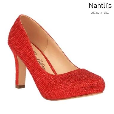 BL-Jonny-10 Red Zapatos de Mujer elegantes Tacon medio Mayoreo Wholesale Womens Mid-Heels Fancy Shoes Nantlis
