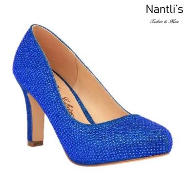 BL-Jonny-10 Royal Blue Zapatos de Mujer elegantes Tacon medio Mayoreo Wholesale Womens Mid-Heels Fancy Shoes Nantlis