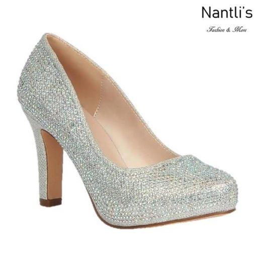 BL-Jonny-10 Silver Zapatos de Mujer elegantes Tacon medio Mayoreo Wholesale Womens Mid-Heels Fancy Shoes Nantlis