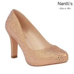 BL-Jonny-17 Rose Gold Zapatos de Mujer elegantes Tacon medio Mayoreo Wholesale Womens Mid-Heels Fancy Shoes Nantlis