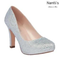BL-Jonny-17 Silver Zapatos de Mujer elegantes Tacon medio Mayoreo Wholesale Womens Mid-Heels Fancy Shoes Nantlis
