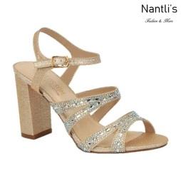 BL-Lilia-5 Champagne Zapatos de Mujer elegantes Tacon medio Mayoreo Wholesale Womens Mid-Heels Fancy Shoes Nantlis