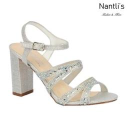 BL-Lilia-5 Silver Zapatos de Mujer elegantes Tacon medio Mayoreo Wholesale Womens Mid-Heels Fancy Shoes Nantlis