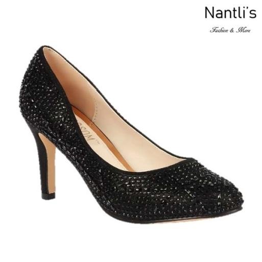BL-Lucy-14 Black Zapatos de Mujer elegantes Tacon medio Mayoreo Wholesale Womens Mid-Heels Fancy Shoes Nantlis