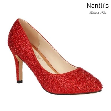 BL-Lucy-14 Red Zapatos de Mujer elegantes Tacon medio Mayoreo Wholesale Womens Mid-Heels Fancy Shoes Nantlis