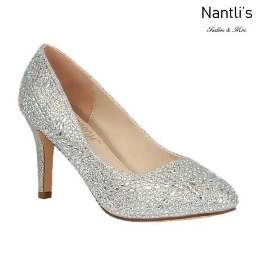 BL-Lucy-14 Silver Zapatos de Mujer elegantes Tacon medio Mayoreo Wholesale Womens Mid-Heels Fancy Shoes Nantlis