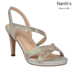 BL-Maggie-21 Silver Zapatos de Mujer elegantes Tacon medio Mayoreo Wholesale Womens Mid-Heels Fancy Shoes Nantlis