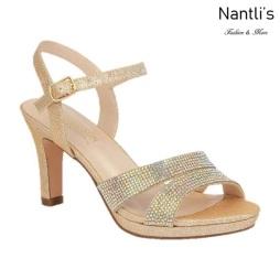 BL-Nicole-11 Champagne Zapatos de Mujer elegantes Tacon medio Mayoreo Wholesale Womens Mid-Heels Fancy Shoes Nantlis
