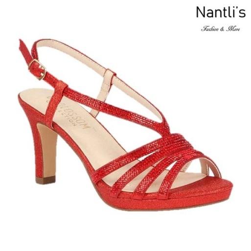 BL-Nicole-16 Red Zapatos de Mujer elegantes Tacon medio Mayoreo Wholesale Womens Mid-Heels Fancy Shoes Nantlis