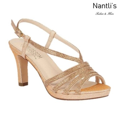 BL-Nicole-16 Rose Gold Zapatos de Mujer elegantes Tacon medio Mayoreo Wholesale Womens Mid-Heels Fancy Shoes Nantlis