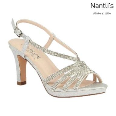 BL-Nicole-16 Silver Zapatos de Mujer elegantes Tacon medio Mayoreo Wholesale Womens Mid-Heels Fancy Shoes Nantlis