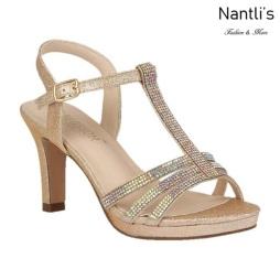 BL-Nicole-20 Gold Zapatos de Mujer elegantes Tacon medio Mayoreo Wholesale Womens Mid-Heels Fancy Shoes Nantlis