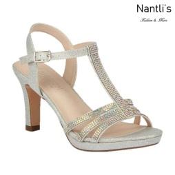 BL-Nicole-20 Silver Zapatos de Mujer elegantes Tacon medio Mayoreo Wholesale Womens Mid-Heels Fancy Shoes Nantlis