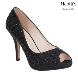 BL-Robin-175 Black Zapatos de Mujer elegantes Tacon medio Mayoreo Wholesale Womens Mid-Heels Fancy Shoes Nantlis