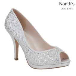 BL-Robin-175 Silver Zapatos de Mujer elegantes Tacon medio Mayoreo Wholesale Womens Mid-Heels Fancy Shoes Nantlis