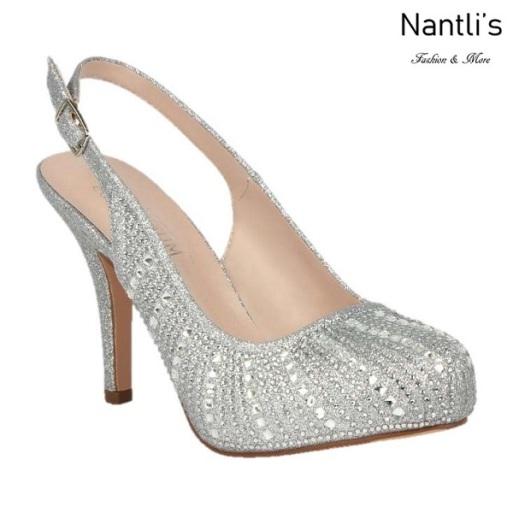 BL-Robin-260 Silver Zapatos de Mujer elegantes Tacon medio Mayoreo Wholesale Womens Mid-Heels Fancy Shoes Nantlis