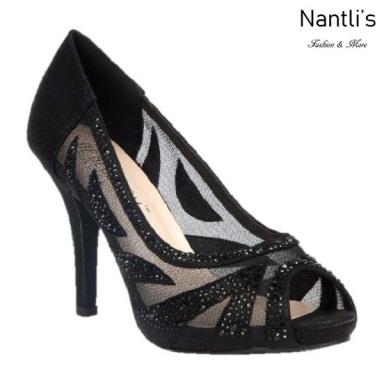 BL-Robin-262 Black Zapatos de Mujer elegantes Tacon medio Mayoreo Wholesale Womens Mid-Heels Fancy Shoes Nantlis