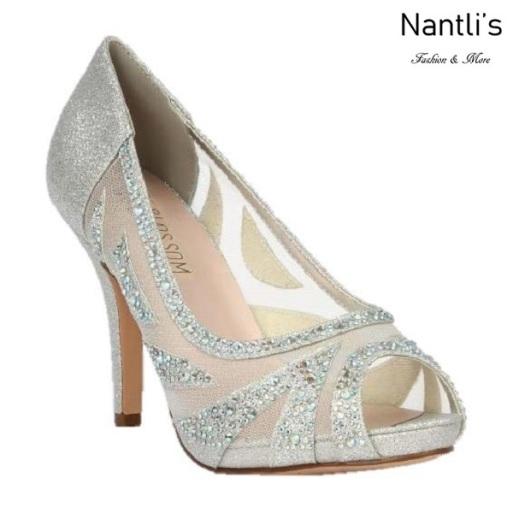 BL-Robin-262 Silver Zapatos de Mujer elegantes Tacon medio Mayoreo Wholesale Womens Mid-Heels Fancy Shoes Nantlis