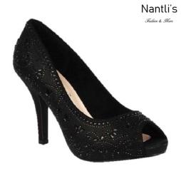 BL-Robin-263 Black Zapatos de Mujer elegantes Tacon medio Mayoreo Wholesale Womens Mid-Heels Fancy Shoes Nantlis