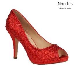 BL-Robin-263 Red Zapatos de Mujer elegantes Tacon medio Mayoreo Wholesale Womens Mid-Heels Fancy Shoes Nantlis