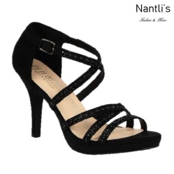BL-Robin-264 Black Zapatos de Mujer elegantes Tacon medio Mayoreo Wholesale Womens Mid-Heels Fancy Shoes Nantlis