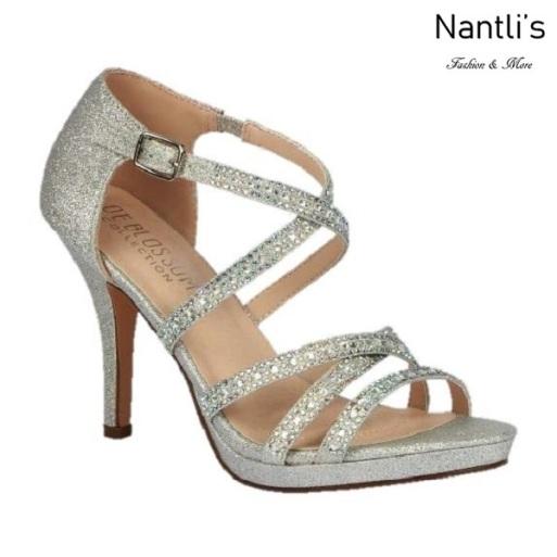 BL-Robin-264 Silver Zapatos de Mujer elegantes Tacon medio Mayoreo Wholesale Womens Mid-Heels Fancy Shoes Nantlis
