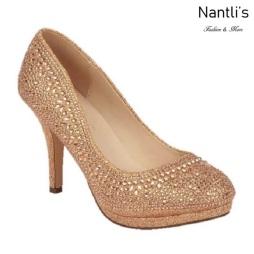 BL-Robin-267 Rose Gold Zapatos de Mujer elegantes Tacon medio Mayoreo Wholesale Womens Mid-Heels Fancy Shoes Nantlis