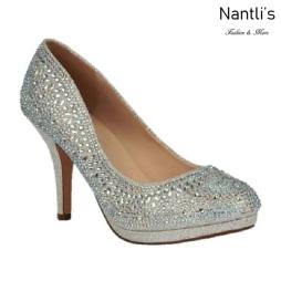 BL-Robin-267 Silver Zapatos de Mujer elegantes Tacon medio Mayoreo Wholesale Womens Mid-Heels Fancy Shoes Nantlis