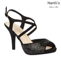 BL-Robin-349 Black Zapatos de Mujer elegantes Tacon medio Mayoreo Wholesale Womens Mid-Heels Fancy Shoes Nantlis