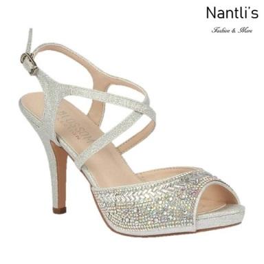 BL-Robin-349 Silver Zapatos de Mujer elegantes Tacon medio Mayoreo Wholesale Womens Mid-Heels Fancy Shoes Nantlis