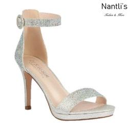 BL-Rosie-14 Silver Zapatos de Mujer elegantes Tacon medio Mayoreo Wholesale Womens Mid-Heels Fancy Shoes Nantlis