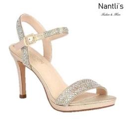 BL-Rosie-25 Gold Zapatos de Mujer elegantes Tacon medio Mayoreo Wholesale Womens Mid-Heels Fancy Shoes Nantlis