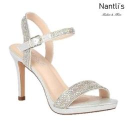 BL-Rosie-25 Silver Zapatos de Mujer elegantes Tacon medio Mayoreo Wholesale Womens Mid-Heels Fancy Shoes Nantlis