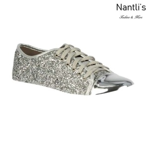 BL-Tennis-6 Silver Zapatos tennis de Mujer Mayoreo Wholesale Women sneakers Shoes Nantlis